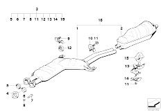 Original Parts for E34 535i M30 Sedan / Exhaust System