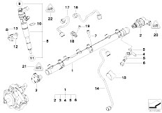 Original Parts for E90 325d M57N2 Sedan / Fuel Preparation