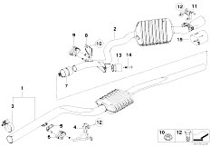 Original Parts for E92 320d N47 Coupe / Exhaust System