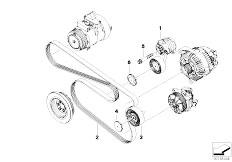 Original Parts for E70 X5 3.0si N52N SAV / Engine/ Belt