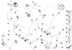 Original Parts for E90 320i N46N Sedan / Radiator/ Cooling