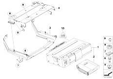 Original Parts for E93 320i N46N Cabrio / Audio Navigation