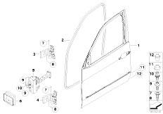 Original Parts for E70 X5 4.8i N62N SAV / Bodywork/ Front