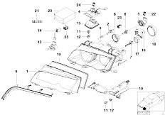 Pièces detachées pour les E46 318Ci N42 Cabrio / Lighting