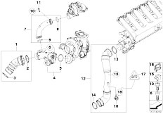 Original Parts for E92 335d M57N2 Coupe / Engine/ Intake