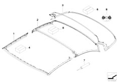 Original Parts for E93 325i N52N Cabrio / Sliding Roof