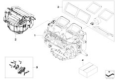 Original Parts for E90 320d M47N2 Sedan / Heater And Air