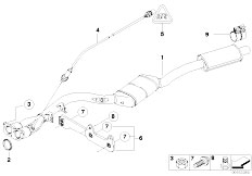 Original Parts for E92 316i N43 Coupe / Exhaust System