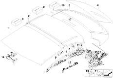 Original Parts for E93 325i N52N Cabrio / Sliding Roof