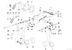 Original Parts for E30 318i M40 2 doors / Pedals