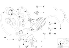 Original Parts for E39 520d M47 Sedan / Engine/ Vacum