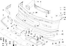 Original Parts for E36 M3 S50 Coupe / Vehicle Trim/ Front