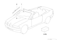 Original Parts for E36 320i M50 Cabrio / Vehicle Trim/ Air