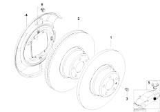 Original Parts for E46 318Ci N46 Coupe / Brakes/ Rear