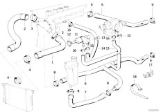 Original Parts for E36 320i M50 Cabrio / Engine/ Crankcase