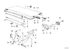Original Parts for E30 M3 S14 Cabrio / Bodywork/ Front