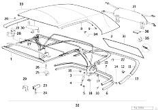 Original Parts for E30 318i M40 Cabrio / Sliding Roof