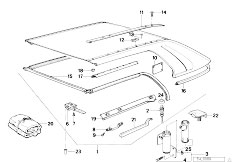 Original Parts for E30 M3 S14 Cabrio / Sliding Roof