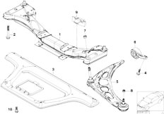 Original Parts for E46 316i N42 Sedan / Front Axle/ Front