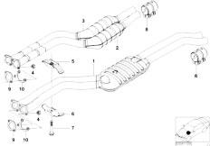 Original Parts for E46 330i M54 Touring / Exhaust System