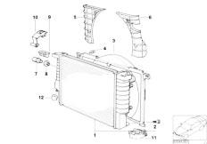 Original Parts for Z3 Z3 M3.2 S54 Roadster / Radiator