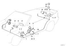 Original Parts for E36 320i M50 Cabrio / Audio Navigation