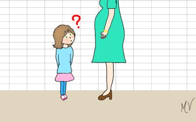 A mamãe está grávida