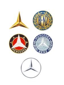 Logos en la historia de Mercedes Benz
