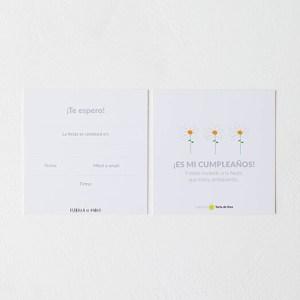 Invitación cumpleaños margaritas