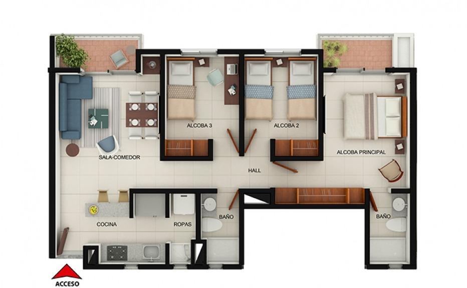 SANTA F DE VARSOVIA  Apartamento en Varsovia Ibagu