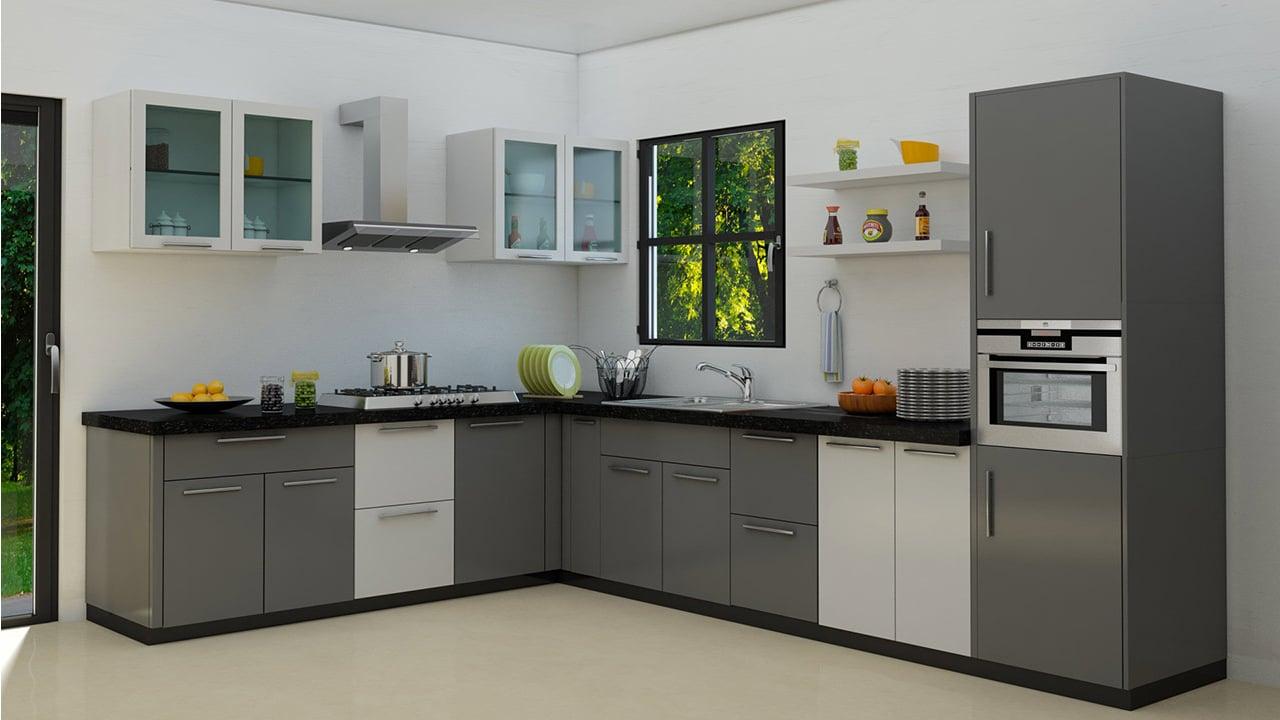 L Shaped Indian Modular Kitchen Designs