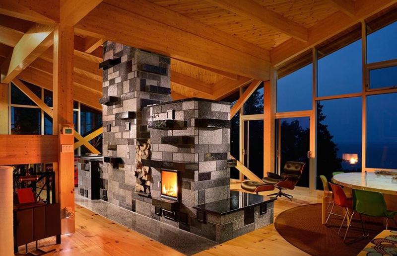 Le foyer de masse  Une autre faon de chauffer une maison  HABITATION  Construction Estrie
