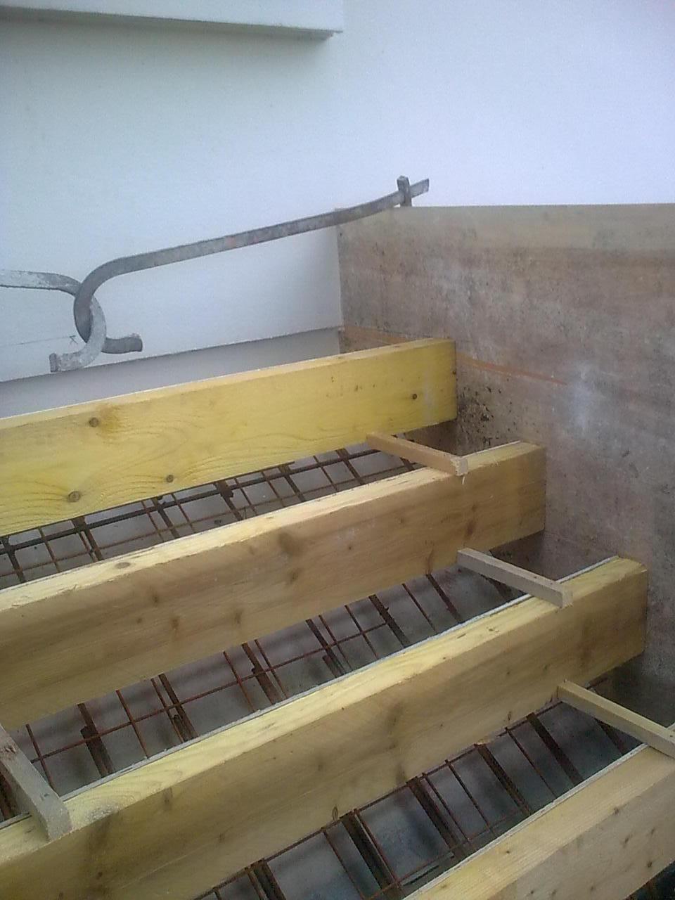 etapes pour la fabrication dun escalier bton entreprise de maonnerie et carrelage du Havre