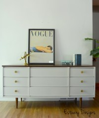 Furniture Debut: Mid Century Modern Dresser - Estuary Designs