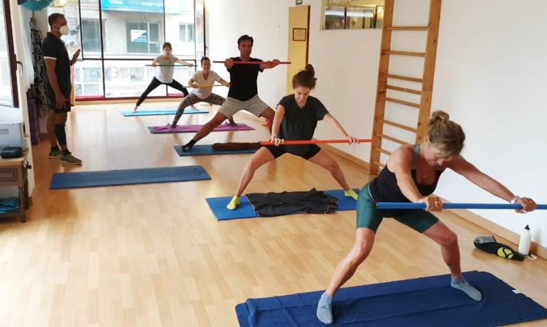 Pilates con Barra