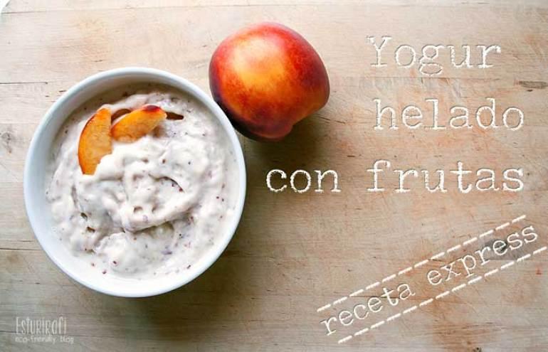 Las recetas de Esturirafi. Yogur helado con frutas #recetas