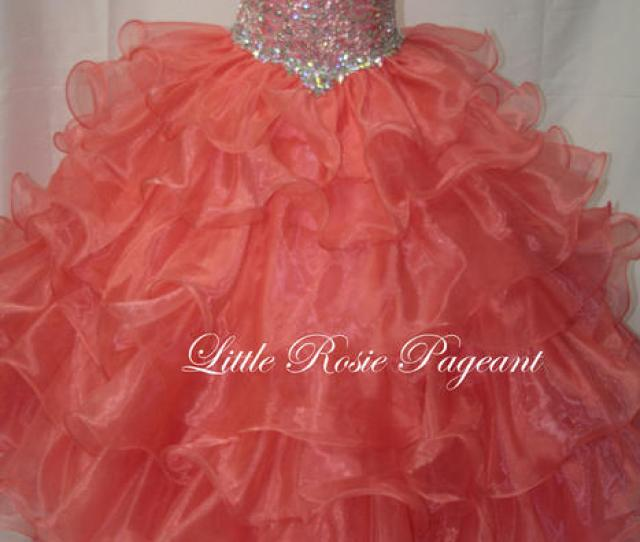 Girls Glitz Pageant Dresses Long Skirt