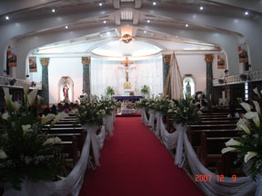 beautiful church solemn church in the Philippines