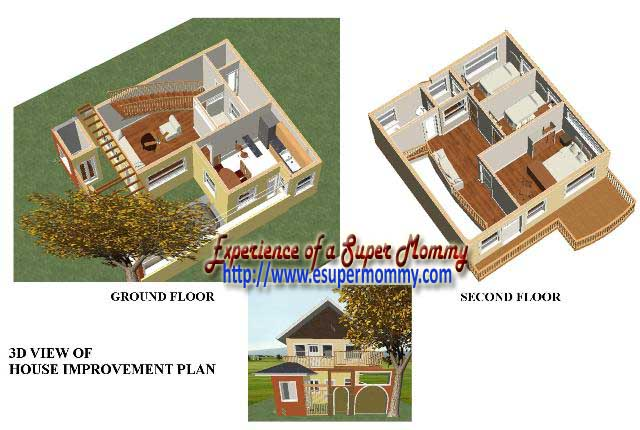3D architectural house design