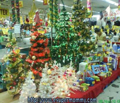 Cheap Christmas tree shopping in the Philippines