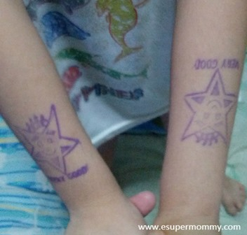 Very Good Star stamp of a Kindergarten child