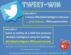 Tweet-Win I choose Multiple Intelligence Promo Week 8