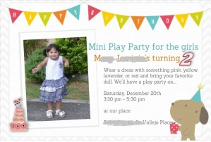 Birthday invitation card HP creations