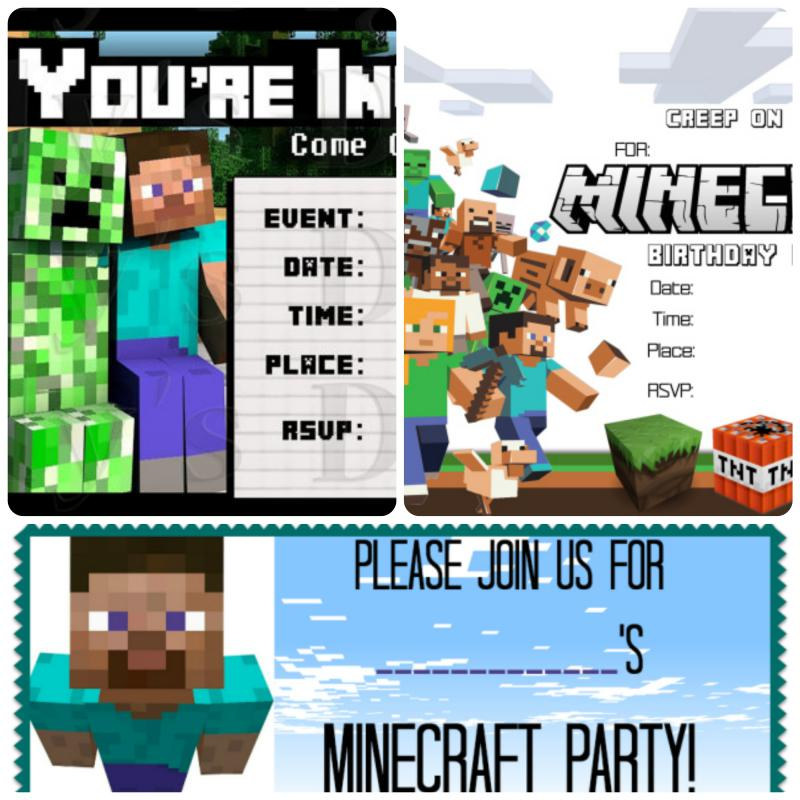 friendly minecraft invitation printable experience of a super mommy