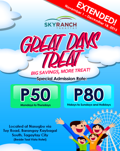 Sky ranch great days promo