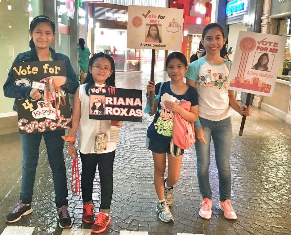 Candidates promoted the causes they believe in during the Miting de Pamilya weekend at KidZania Manila.