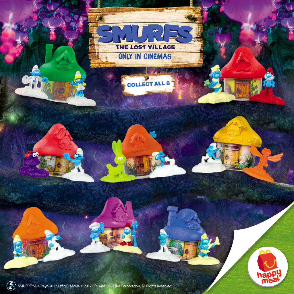 Smurfs Happy Meal Toys
