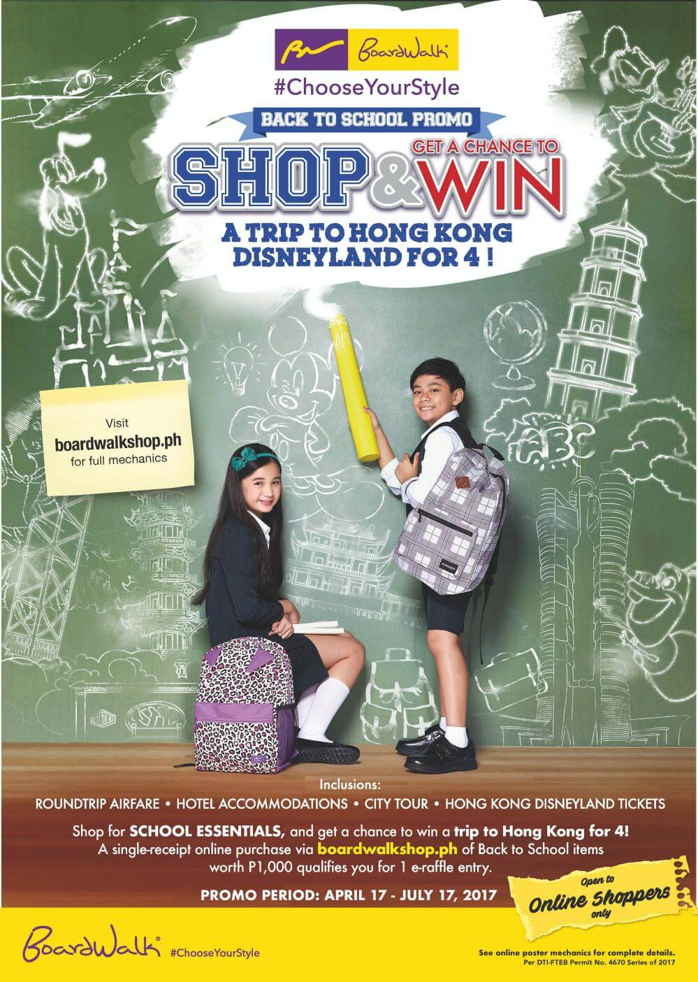 Boardwalk's Shop and Win a Trip to HongKong Disneyland