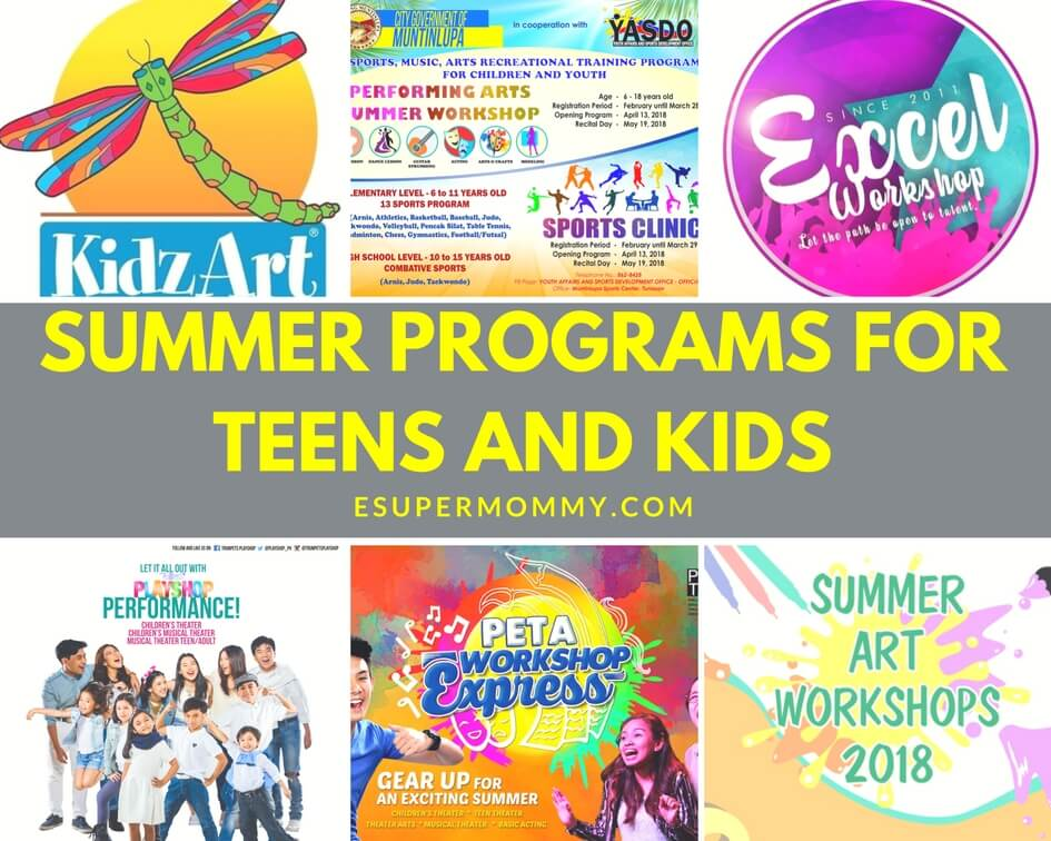 Summer programs for teens and kids 2018