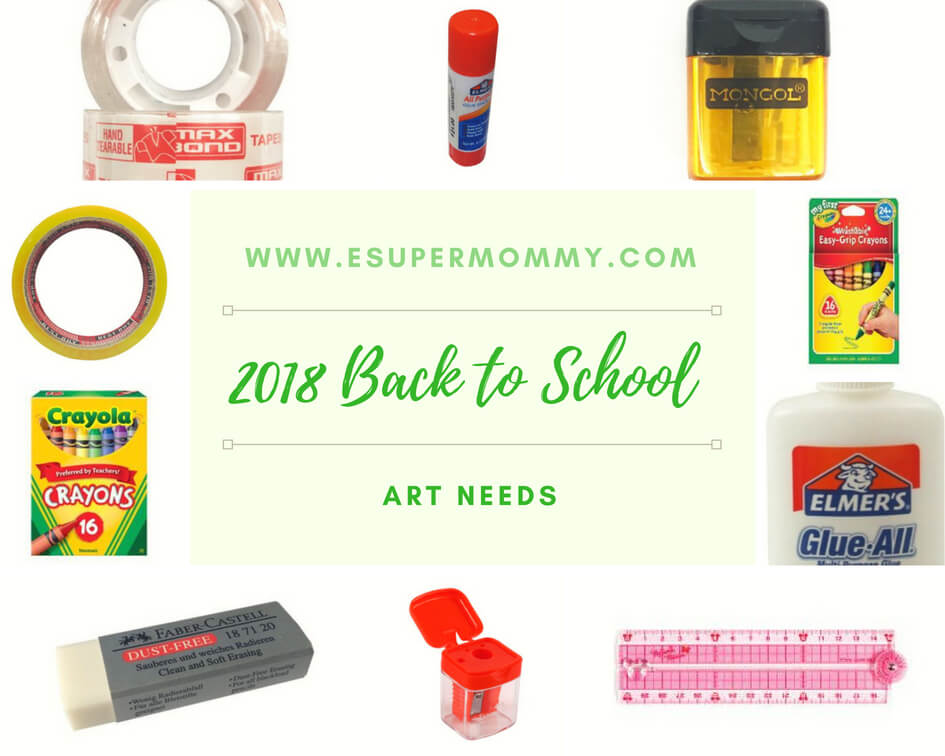 2018 Back to School Art Needs